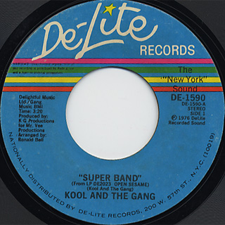 Kool And The Gang / Super Band c/w Sunshine front