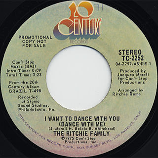 Ritchie Family / I Want To Dance With You(Stereo) c/w (Mono)