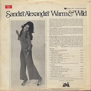 Sandra Alexandra / Warm & Wild back