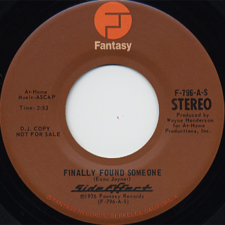 Side Effect / Finally Found Someone(Stereo) c/w (Mono)
