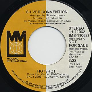 Silver Convention / Hot Shot(Stereo) c/w (Mono)