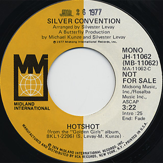 Silver Convention / Hot Shot(Stereo) c/w (Mono) back