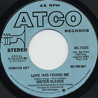 Sister Sledge / Love Has Found Me(Stereo) c/w (Mono)