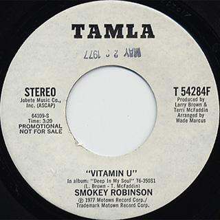 Smokey Robinson / Vitamin U(Stereo) c/w (Mono)