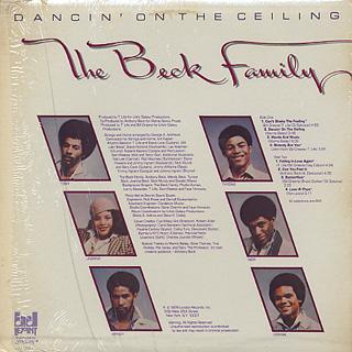 Beck Family / Dancin' On The Ceiling back