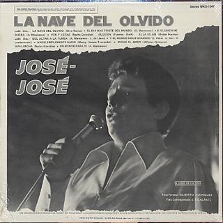 Jose Jose / La Nave Del Olvido back