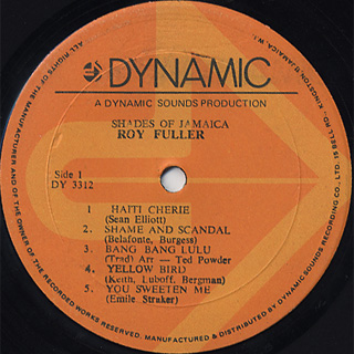 Roy Fuller / Shades Of Jamaica label