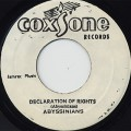 Abyssinians / Declaration Of Rights c/w Sound Dimension / Declaration(Ver)