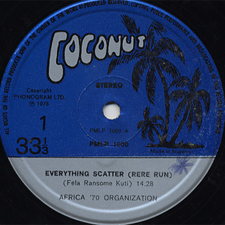Fela & Africa '70 Organization / Everything Scatter label