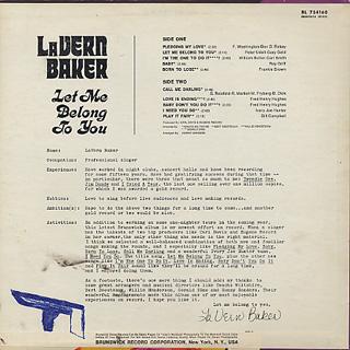 Lavern Baker / Let Me Belong To You back