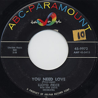 Lloyd Price / Stagger Lee c/w You Need Love