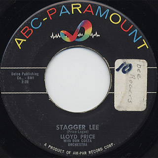 Lloyd Price / Stagger Lee c/w You Need Love back