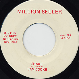 Sam Cooke / Shake c/w Contours / First I Look At The Purse front