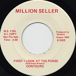 Sam Cooke / Shake c/w Contours / First I Look At The Purse back