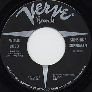 Willie Bobo / Sock It To Me c/w Sunshine Superman back