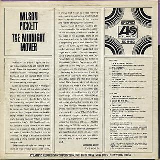 Wilson Pickett / The Midnight Mover back