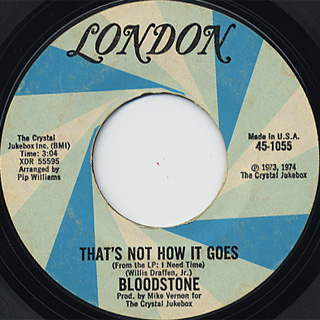 Bloodstone / Everybody Nedds Love c/w That's Not How It Goes back
