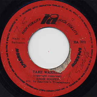 Eddie Hooper / Take Warning c/w Tony Ricardo / Soldiers Player
