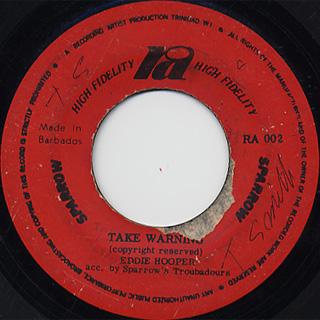 Eddie Hooper / Take Warning c/w Tony Ricardo / Soldiers Player