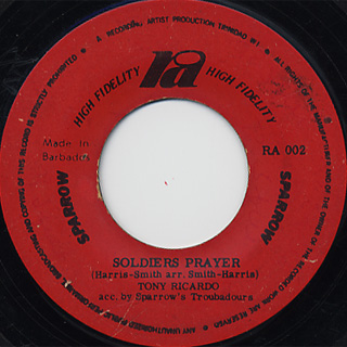 Eddie Hooper / Take Warning c/w Tony Ricardo / Soldiers Player back