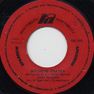 Eddie Hooper / Take Warning c/w Tony Ricardo / Soldiers Player back