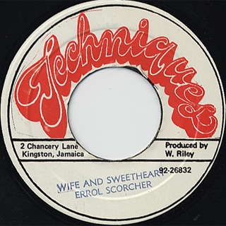 Errol Scorcher / Wife And Sweet Heart c/w Version front