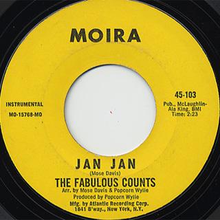 Fabulous Counts / Jan Jan c/w Girl From Kenya