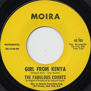 Fabulous Counts / Jan Jan c/w Girl From Kenya back