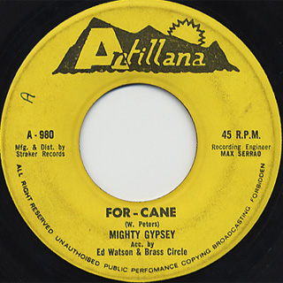 Mighty Gypsey / For - Cane c/w PP vs PP back