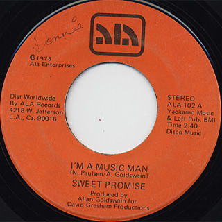 Sweet Promise / I'm A Music Man c/w Funky Jungle