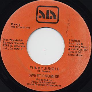 Sweet Promise / I'm A Music Man c/w Funky Jungle back