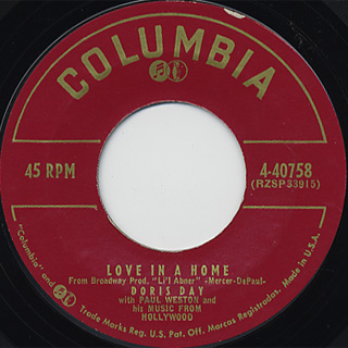 Doris Day / Julie c/w Love In A Home back