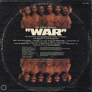 Eric Burdon Declares / War back