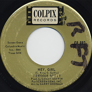 Freddie Scott / The Slide c/w Hey, Girl