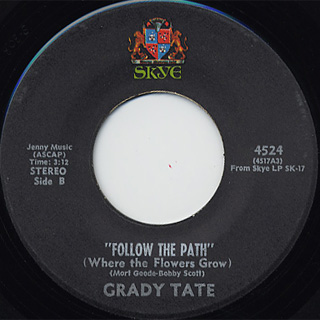 Grady Tate / After The Long Drive Home c/w Follow The Path back
