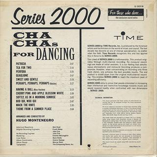Hugo Montenegro / Cha Chas For Dancing back
