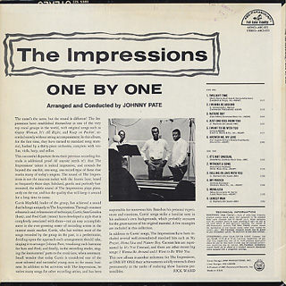 Impressions / One By One (Monoral) back