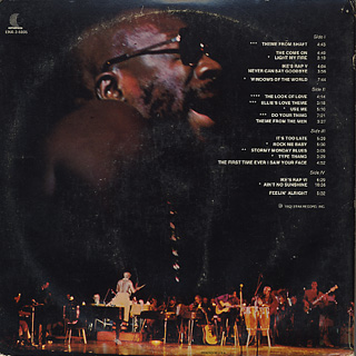 Isaac Hayes / Live At The Sahara Tahoe back