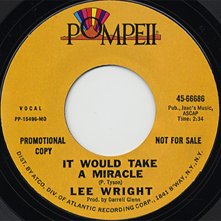 Lee Wright / That's What You Get For What You Got c/w It Would Take A ~ back