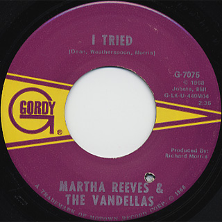 Martha Reeves And The Vandellas / Honey Chile c/w Show Me The Way back