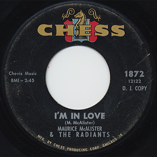 Maurice Mcalister / I'm In Love c/w Shy Guy