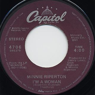 Minnie Riperton / Memory Lane c/w I'm A Woman back
