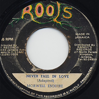 Morwell Esquire / Never Fall In Love c/w Blood In Dub