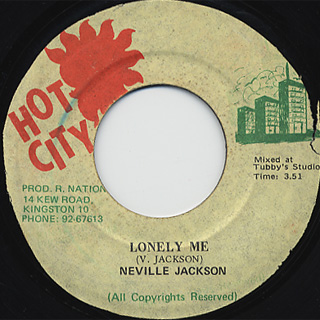 Neville Jackson / Lonely Me c/w Lonely Dub
