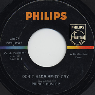Prince Buster / Ten Commandments c/w Don't Make Me To Cry back