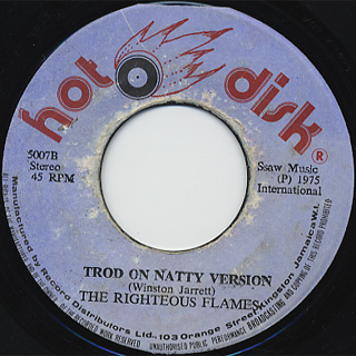Righteous Flames / Trod On Natty c/w Version back