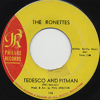 Ronettes Be My Baby C W Tedesco And Pitman 7inch