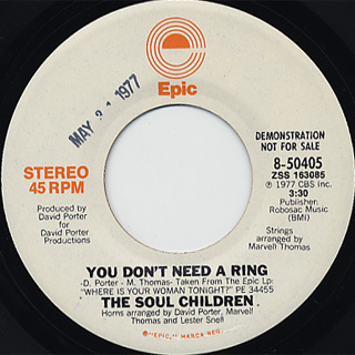 Soul Children / You Don't Need A Ring c/w (Mono)