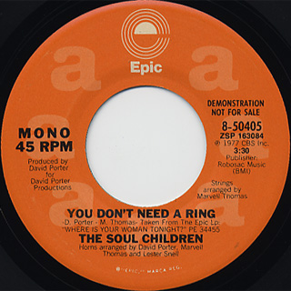 Soul Children / You Don't Need A Ring c/w (Mono) back