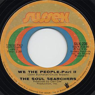 Soul Searchers / We The People(Part 1) c/w (Part 2) back